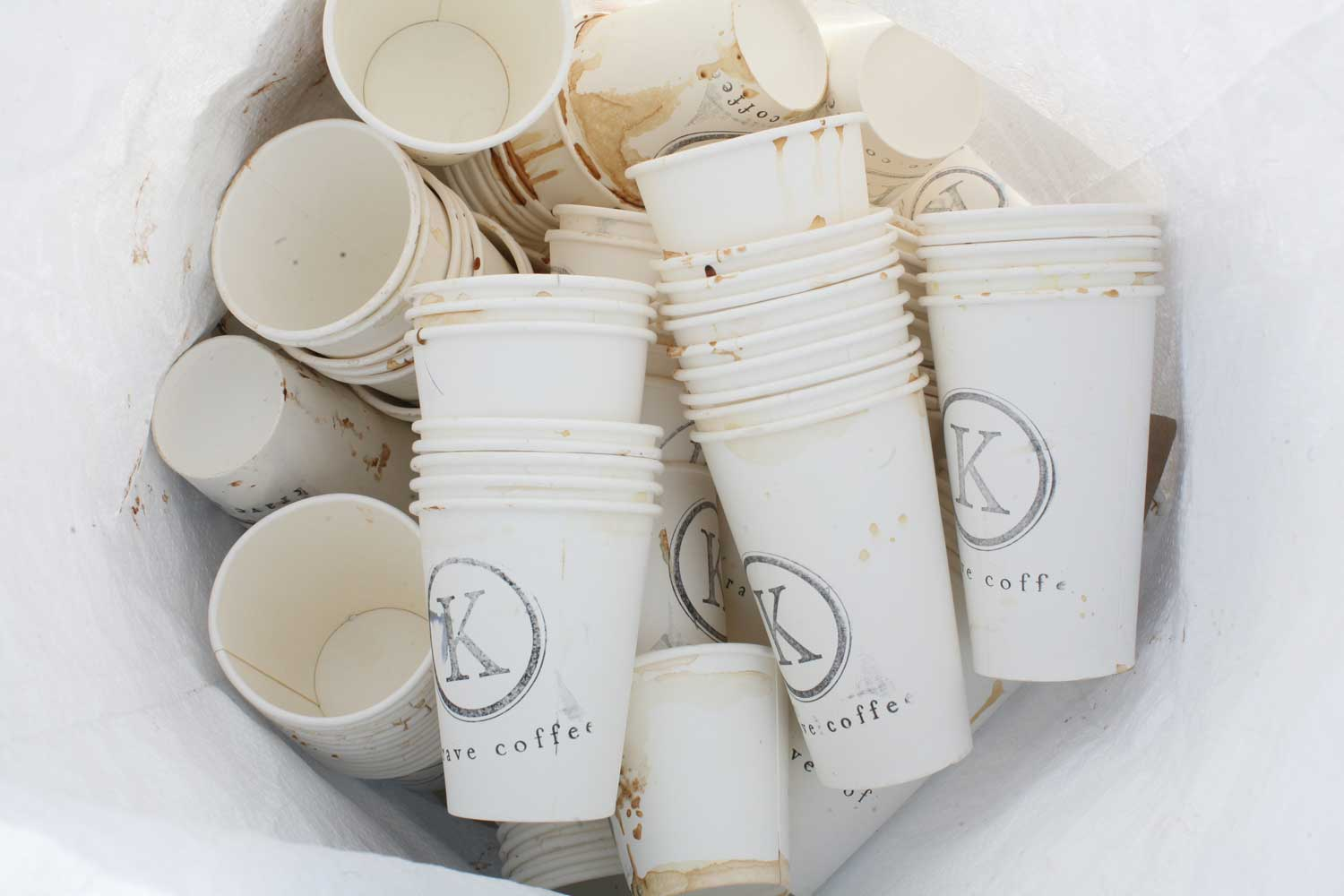 bagged coffee cups